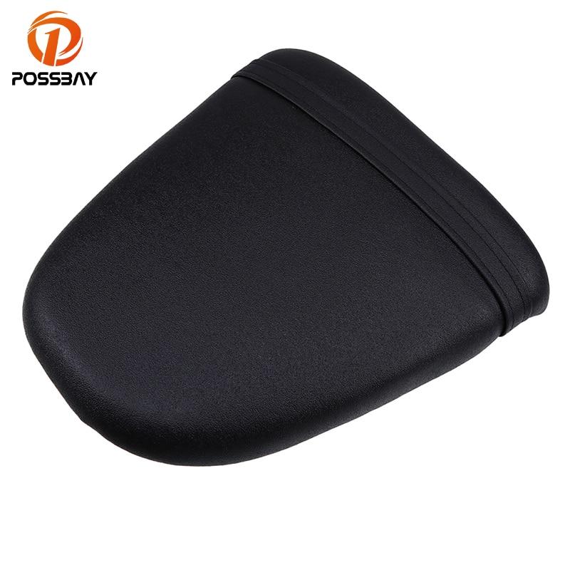 POSSBAY Motorcycle Seat Cushion Rear Black Pillion Passenger Fit for Suzuki GSXR600 750 1996 1997 1998 1999
