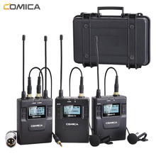 цена на Comica Professional UHF Wireless Microphone System Lavalier Lapel Mic Receiver/Transmitter for Camera Camcorder Microphone