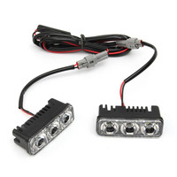 2pcs Super White 6000K DRL Fog Lamps 18W Waterproof Zinc Alloy Car Auto LED Daytime Running