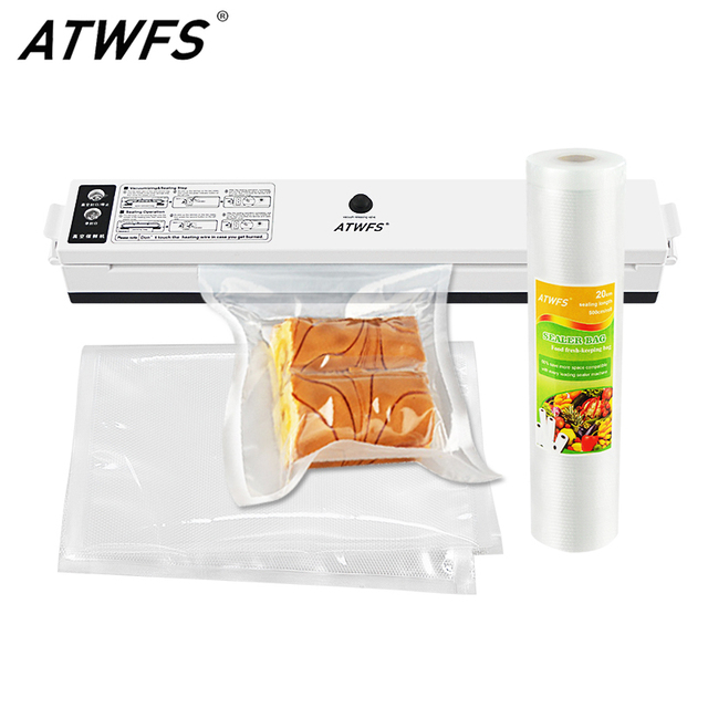 Atwfs Vacuum Sealer Machine Food Bags For Packaging Packer Ng 15pcs