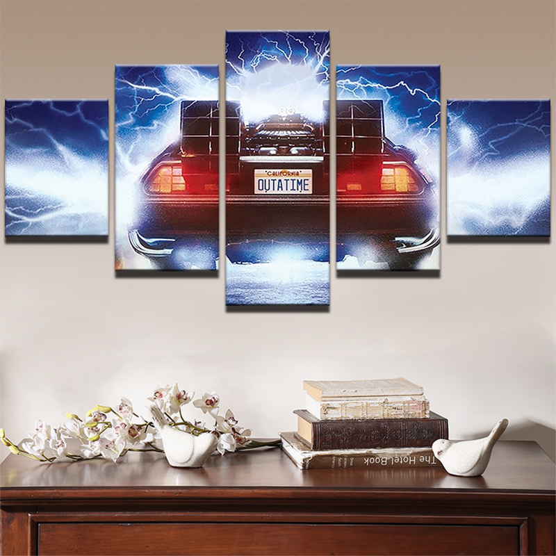 Abstract Canvas HD Printed Painting Wall Art Oil Pictures Frame 5 Panel Movie Cool Car Poster