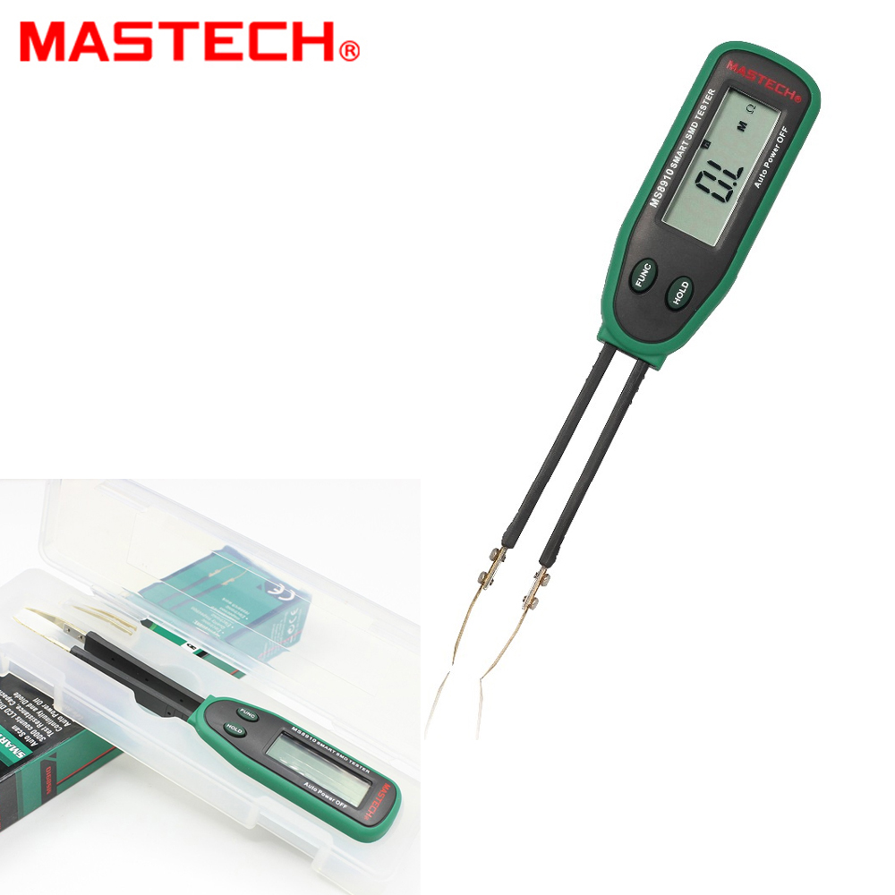 Mastech MS8910 Smart SMD Tester Capacitance Meter Multimeter 3000 counts LCD display Auto Scanning Manual Ranging цена