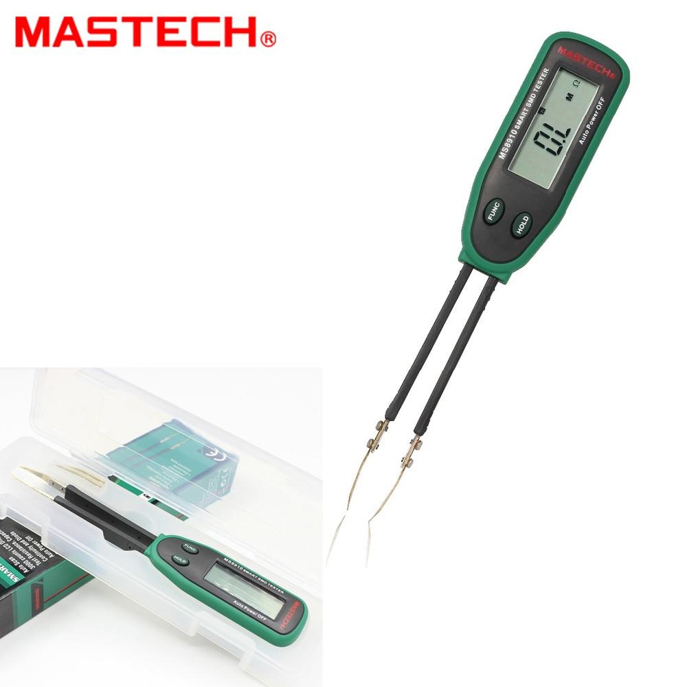 Mastech MS8910 Smart SMD Tester Capacitance Meter Multimeter 3000 counts LCD display Auto Scanning Manual Ranging тестер mastech ms8910