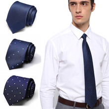 Men Solid Navy Blue Classic Ties for Bridegroom Green Color 7.5cm Slim Neck Wedding Tie Skinny Groom
