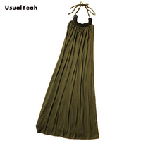 Free Shipping Lady Fashion Beaded Long Bohemian Dress Sexy Cotton Halter Maxi Dress CQ0068 White Green