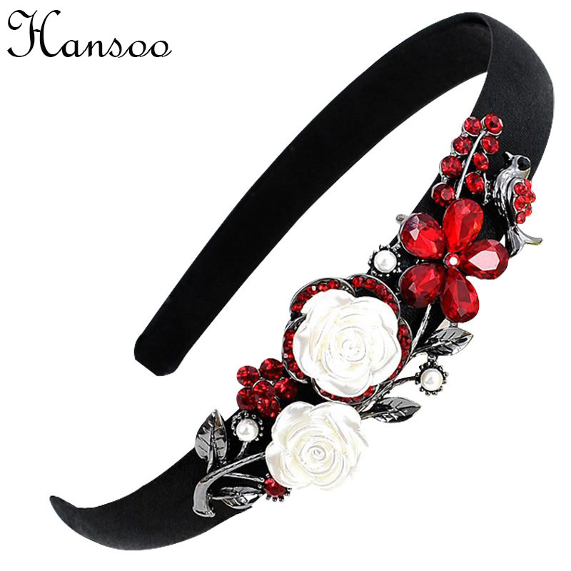 High quality women hair hoops fashion girl hairbands color crystal rose hairpin girl hair accessories wholesale tire head band halloween party zombie skull skeleton hand bone claw hairpin punk hair clip for women girl hair accessories headwear 1 pcs