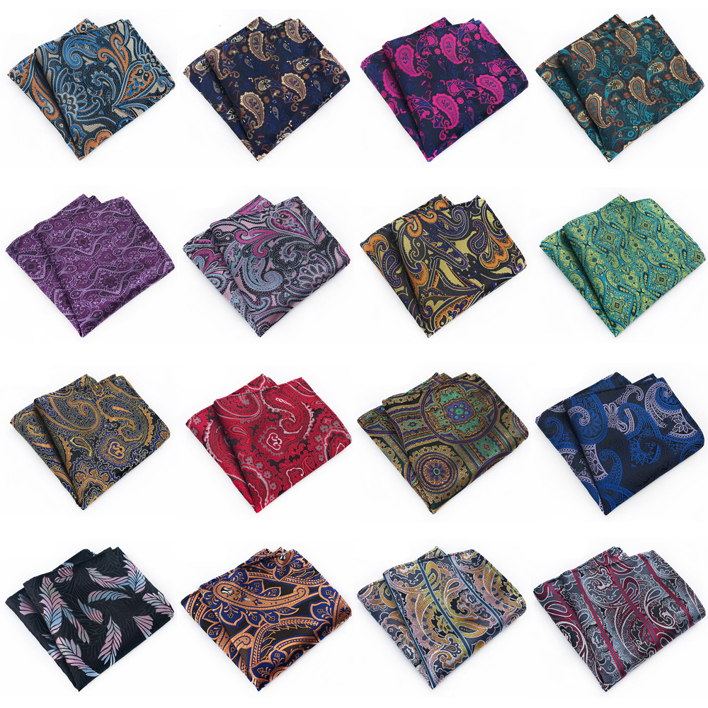 Men High Grade Paisley Floral Pocket Square Wedding Party Handkerchief New BWTHZ0322