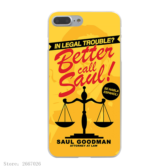 Better Call Saul Hard Transparent Cover Case for iPhone 7 7 Plus 6 6S Plus 5 5S SE 5C 4 4S
