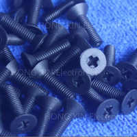 M3*6/8/10/12/15/18/20/25 black 1pcs Nylon Phillips Countersunk Flat Head Screw Plastic Bolt Plastic Fasteners Assortment