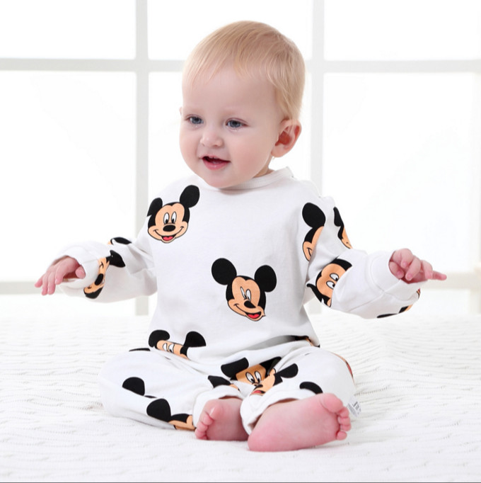 Baby Boys Clothing Spring Cotton Toddler Overalls Long Sleeved Mickey Romper Newborn Infant Jumpsuits Cartoon Baby Girls Rompers baby boys rompers infant jumpsuits mickey baby clothes summer short sleeve cotton kids overalls newborn baby girls clothing