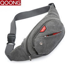 QOONG Men Women Bag Waterproof Crossbody Bag Shoulder Waist Packs Leisure Chest Pack Couple Fashion Travel Fanny Bag Organizer