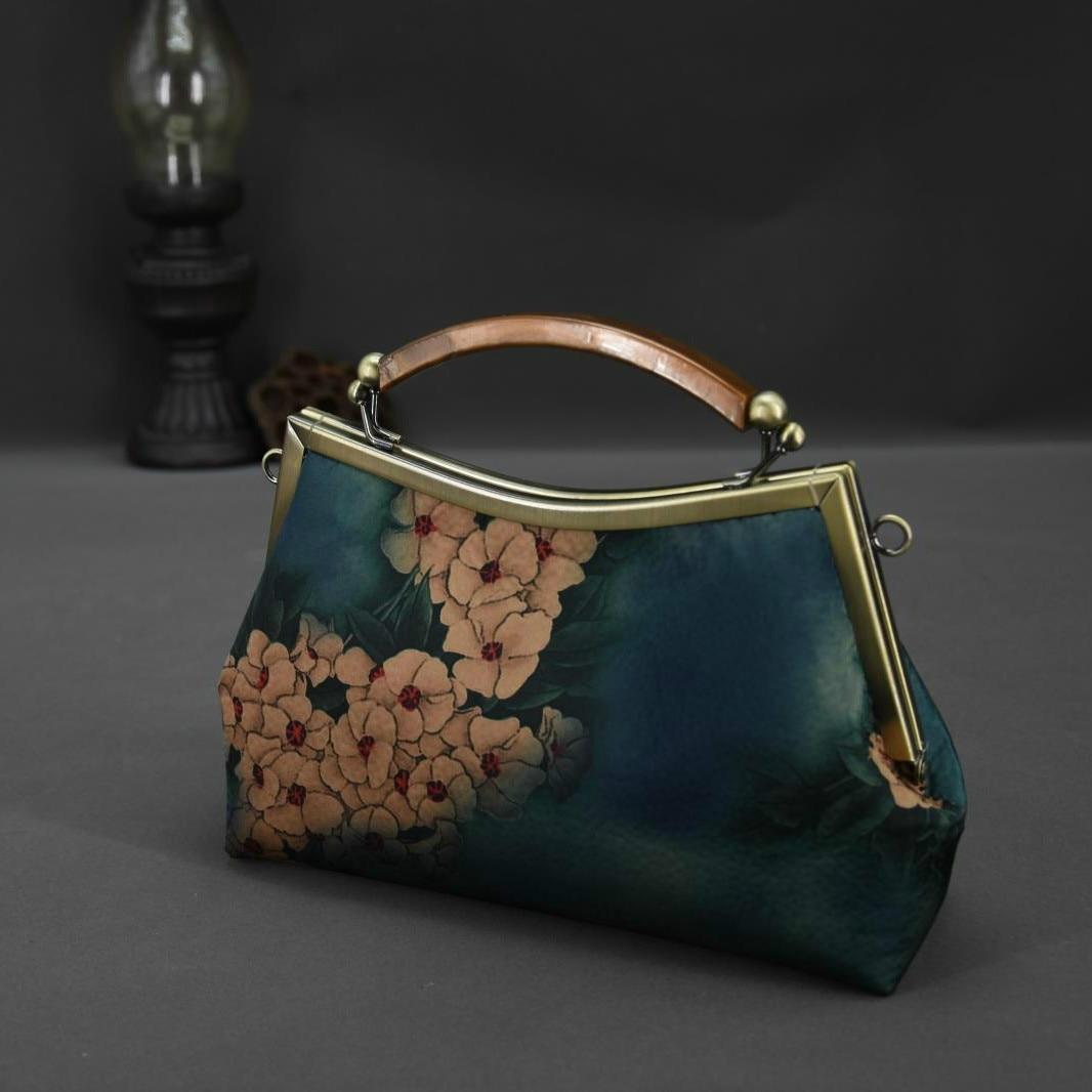 RUBIHOME bricolage à la main artisanat matériel fleur pour pochette pour femmes sac à main cadre Banquet fête de mariage sacs à main chaîne sacs (pas fini)