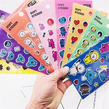 60295fbd2faa KPOP BTS Bangtan niños COOKY TATA el Customizing de 3D de dibujos animados  tatuaje pegar pegatinas