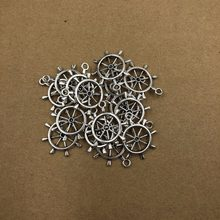 28MM Hot Sell Antique Compass Rudder Anchor Charms Anchor Pendants for Necklace Bracelet Jewelry Making DIY Handmade 5ps(China)