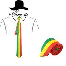 ClassicMan Галстуки Боливии флаг красный желтый и зеленый цвета в полоску вечерние повседневные Галстуки полиэстер тканые классический для мужчин's