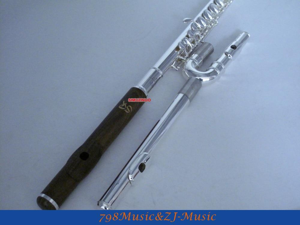 Professional alto flute-g key-banhado a prata-e verde