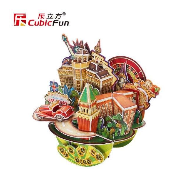 Cubicfun 3D Головоломки DIY Картона Модель, Лас-Вегас OC3205 Городской Пейзаж Архитектурные Особенности Puzzle 3D Модели, игрушки Для Детей