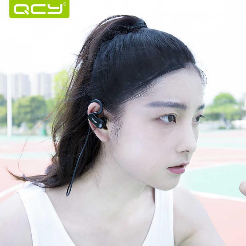 QCY QY31 IPX4 odporny na pot słuchawki Bluetooth 4.1 bezprzewodowy zestaw słuchawkowy dla aktywnych aptx stereo słuchawki douszne z mikrofonem
