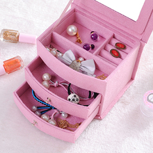 Multifunctional Portable Velvet Jewelry Box