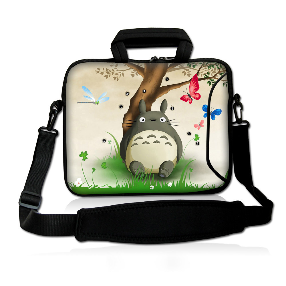 13 cute neoprene totoro laptop bag carry case sleeve pouch w pocket shoulder strap for 13 3. Black Bedroom Furniture Sets. Home Design Ideas