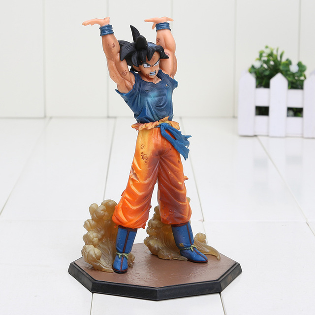 16 cm Dragon Ball Z Son Goku Batalha Genki Dama Lâmpada PVC Action Figure Modelo Brinquedos figura Bola Dragão