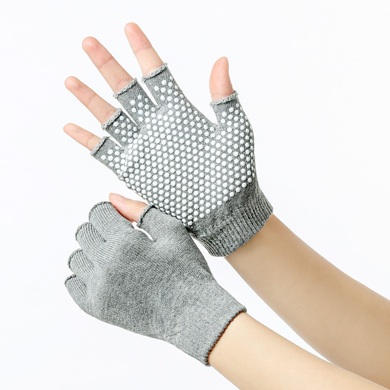 1 paar Yoga Halbe <font><b>Finger</b></font> Handschuhe Nicht slip Radfahren Handschuhe <font><b>Gym</b></font> Anti-skid Training Workouts <font><b>Sport</b></font> Handschuhe Outdoor Zubehör image