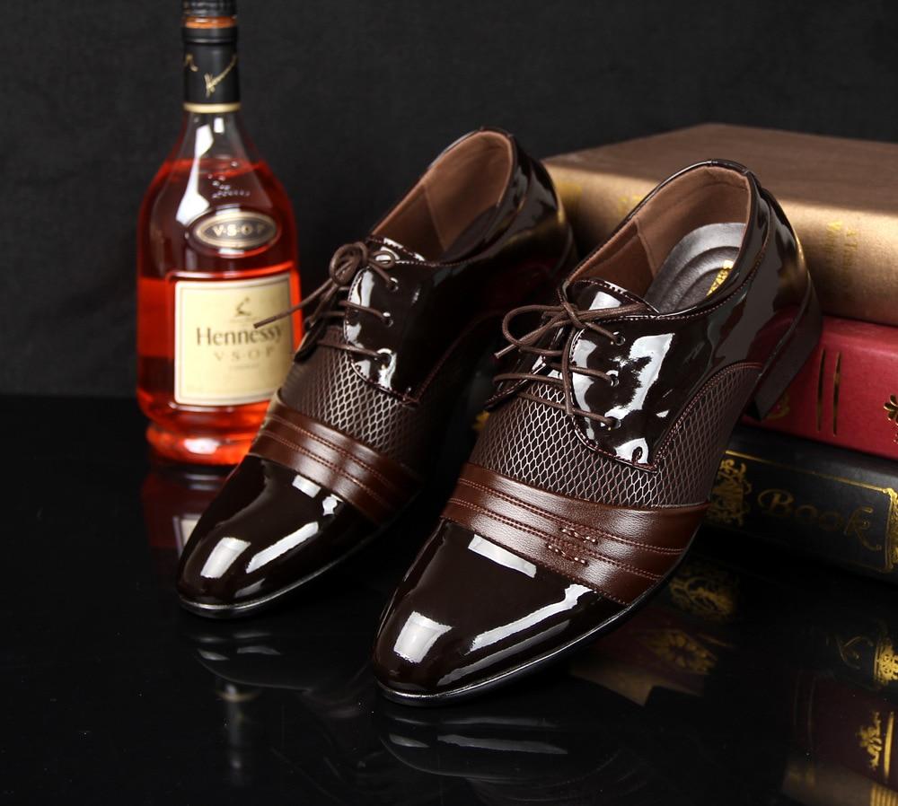 2016 Man ademende mannen instappers designer lederen schoen - Herenschoenen
