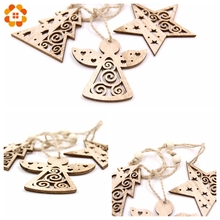 Christmas Snowflakes, Wooden Pendants Ornaments for Xmas Tree, Christmas Party Decorations