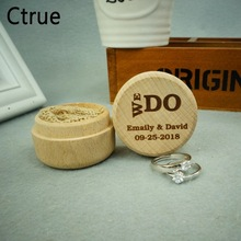 Personalized WE DO Rustic Ring Bearer Box Custom Wedding Pillow Engraved Wooden Name Date