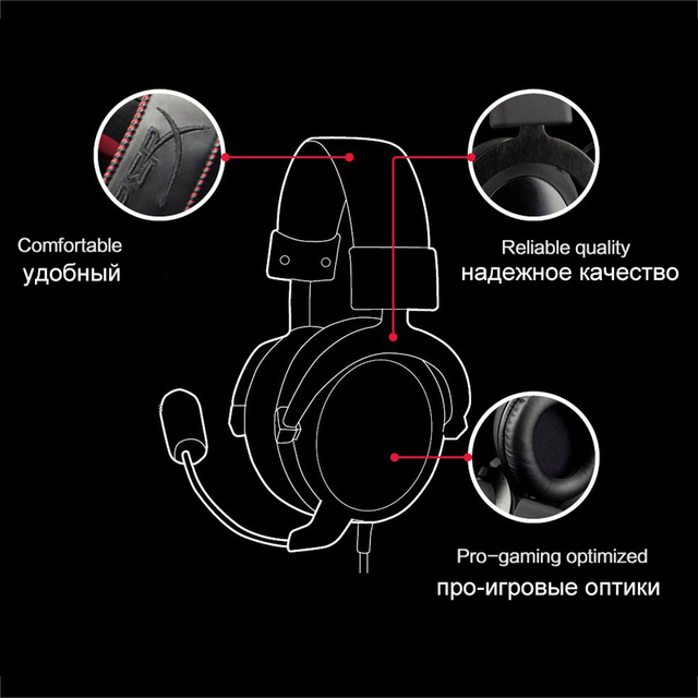 Kingston Gaming Headset HyperX Cloud Core Headphones With a microphone Hi-Fi Auriculares For PC PS4 Xbox Mobile devices