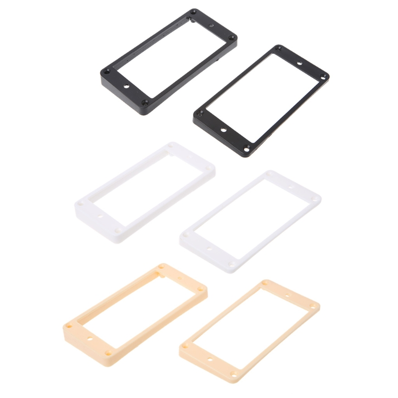 Humbucker Pickup Frames neck and bridge Pickup Mounting Ring Curved Tapered dimarzio mounting ring bridge position white dm1301w