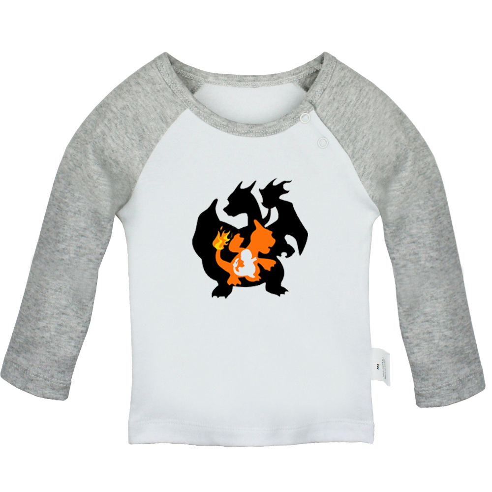 Kids Charmandar Charizard T-Shirt Cartoon Pokemon Design Mens Top Gift Tshirt