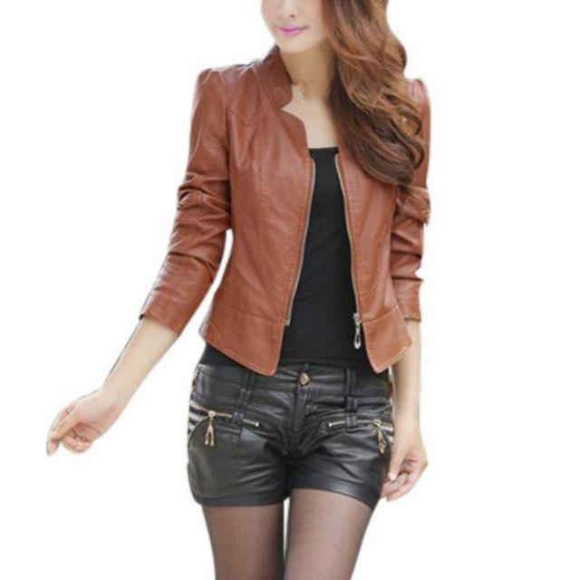 girl jacket Sexy biker