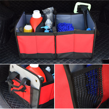 New SUV Car Large Foldable Sturdy Stowing Tidying Trunk Box Collapsible Space Saving Storage Box Car Organizer Shopping Tidying