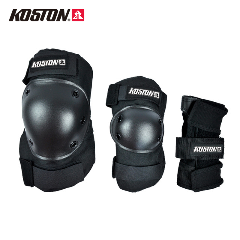KOSTON Skateboard Protective Elbow Knee Pads Skate Roller Blade Elbow/knee/wrist Guard Safety Gear Set M/L AC620 smith safety gear leopard elbow pads