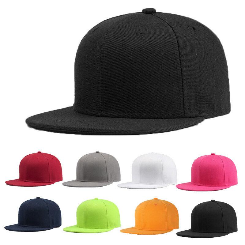 Plain Snapback Blank Solid 100/% Cotton Adjustable Hat Cap Baseball