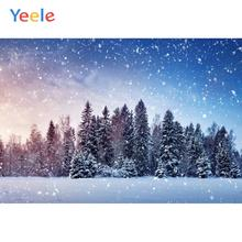 Yeele Winter Fallen Snowflake Forest Bedroom Decor Photography Backdrops Personalized Photographic Backgrounds For Photo Studio