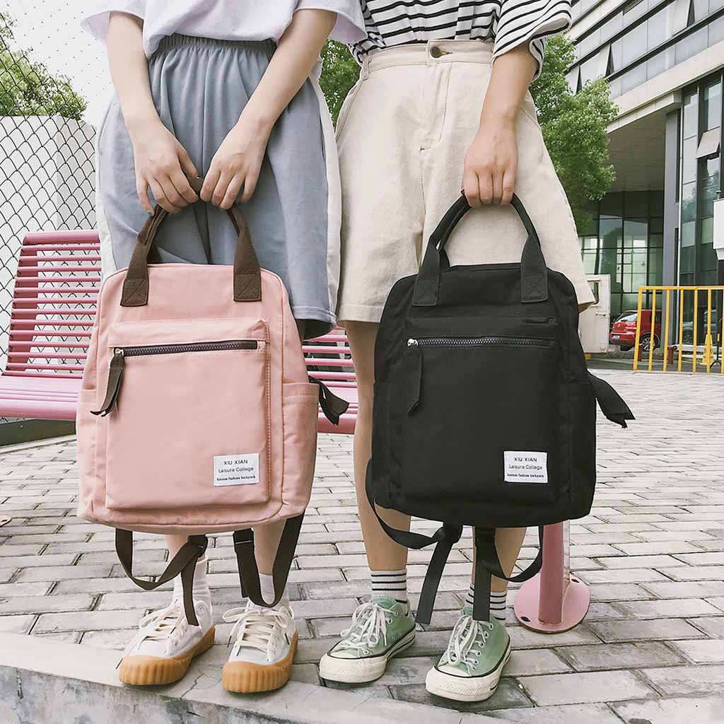 Korean Style Canvas Backpack For Women Simple Fashion Youth Travel Leisure School Bag Tote For Teen Girl Shoulder Bag 30