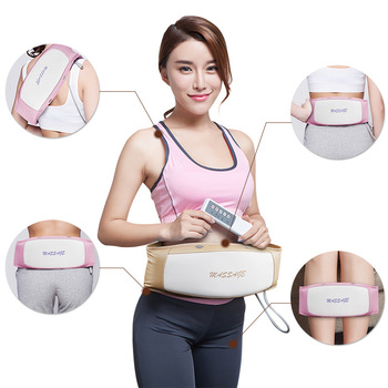 Electric Heating Vibration Massage Belt Waist Shoulder Body Pain Relief Therapy Back Massager Brace Home Relaxation