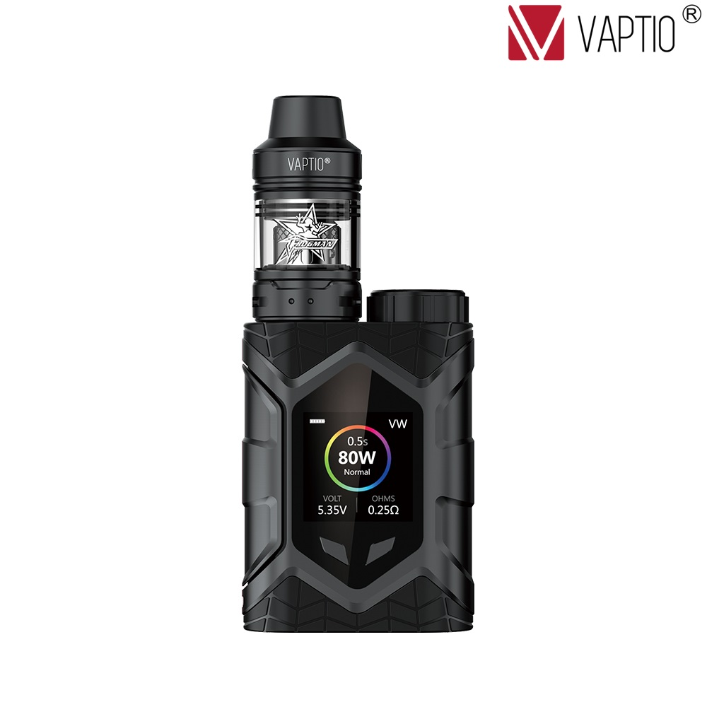 Vaptio Wall Crawler Vape KIT 2.0/5.0ML 80W Resistance 0.05/2ohm E Cigarette TCR 1.3inch TFT Screen Fit TFV8tank