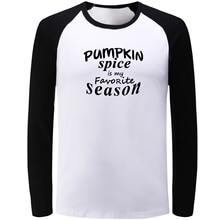 f2d10b4e IDzn Blue Black Raglan Long Sleeve T-shirt Pumpkin Spice is My Favorite  Season Lettering