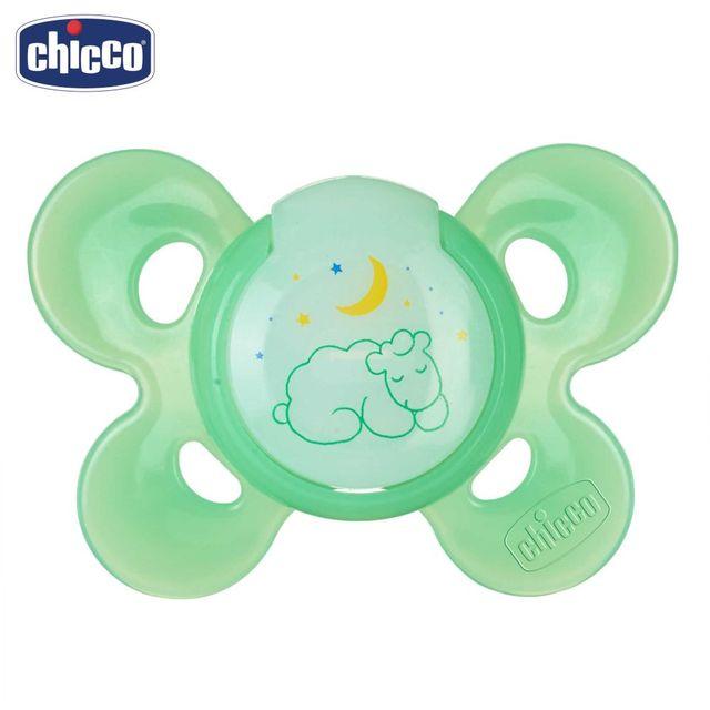Пустышка Chicco Physio Comfort Lumi, 1 шт., 6 мес.+, силикон