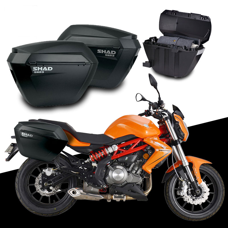 Motorcycle Luggage Rack Bag Stunning For Benelli BJ60GS BJ 60 GS SHAD SH60 Side BoxsRack Set