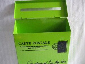 Image 3 - 22X6.5XH29CM vert boîte postale boîte aux lettres métal pâques fête décoration saint Patrick ornement