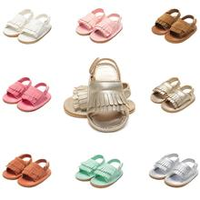 Summer PU Newborn Baby Girl Boy Shoes Fashion Solid Tassel Kid Shoes Child Infant Toddler Baby Girl Sandals 2019