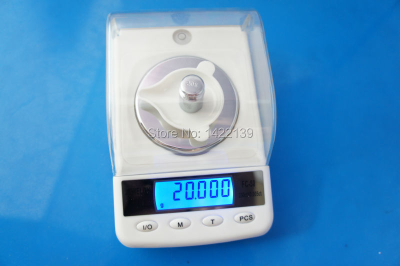 50g x 0.001g High Precision Digital Electronic scales FC50 , Gold jewelry carat scale, balance scale scales 50g 0 001g precision digital jewelry gem powder scales electronic diamond milligram scale bench weighing balance free shipping