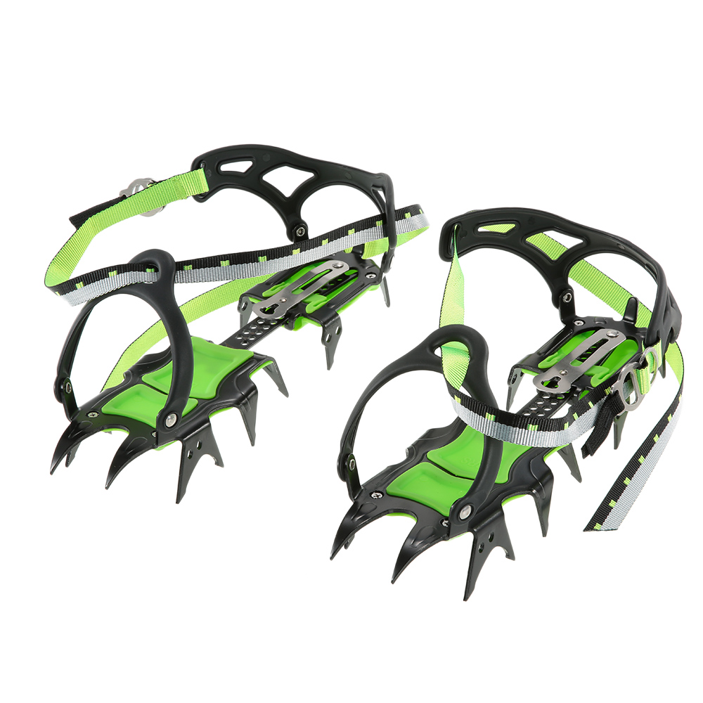 14 point Crampons Manganese Steel Climbing Gear Anti Skid Snow Ice Climbing Shoe Grippers Crampon Traction