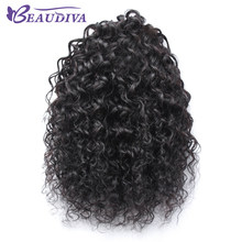 Beaudiva Malaysian Curly Hair Weave Ponytail 100% Human Hair Natural Color Hairstyles Pony Tail Heat Resistant Non Remy(China)