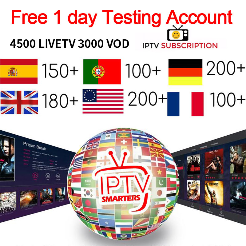 IPTV Subscription Caribbean Hindi Canada USA India Russian Aarabic Europe French Latino Spain Portugal HD Android IPTV Smart M3U