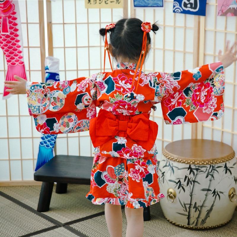 2019 новых детей юката одежда японское кимоно платье Дети юката костюм Хаори традиционные японские кимоно